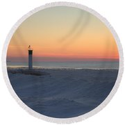 Ice Mound Glow 4 Round Beach Towel