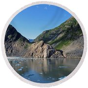 Ice On The Water Round Beach Towel