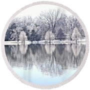 Ice Park Round Beach Towel