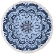 Ice Patterns Snowflake Round Beach Towel