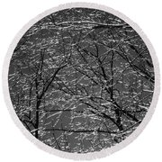 Ice Rain Round Beach Towel