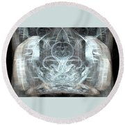 Ice Temple Round Beach Towel
