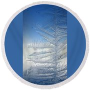 Ice Tree Round Beach Towel
