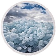 Ice Wall Round Beach Towel