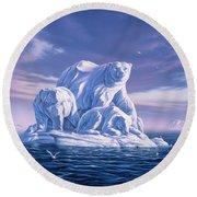 Icebeargs Round Beach Towel by Jerry LoFaro
