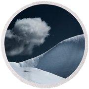 Iceberg And Cloud Round Beach Towel