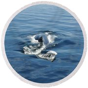 Iceberg And Humpback Round Beach Towel