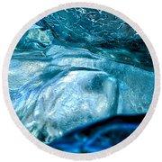 Iceberg Details #8 - Iceland Round Beach Towel
