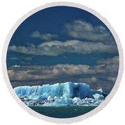 Iceberg In Viedma Lake - Patagonia Round Beach Towel