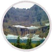 Iceberg Lake Round Beach Towel