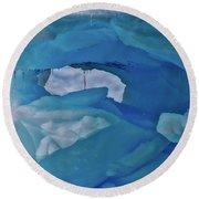 Iceberg Window Round Beach Towel