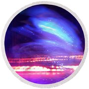 Icedance Round Beach Towel