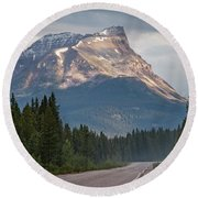 Icefields Parkway Banff National Park Round Beach Towel