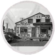 Icehouse Medium Format Nitrate Negative John Vachon Photo Rosslyn Virginia Septemer 1937 Round Beach Towel