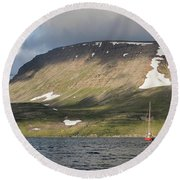Iceland 18 Round Beach Towel