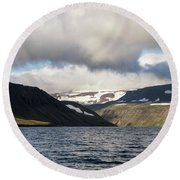 Iceland 19 Round Beach Towel