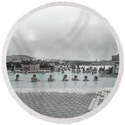 Iceland Blue Lagoon Geothermic Seawater Round Beach Towel
