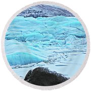 Iceland Glacier Bay Glacier Mountains Iceland 2 322018 1789.jpg Round Beach Towel