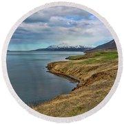 Iceland Landscape # 8 Round Beach Towel