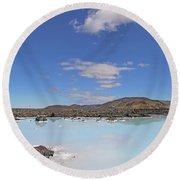Iceland Popular Blue Lagoon  Round Beach Towel