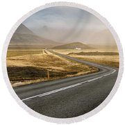 Iceland Ring Road 1 Round Beach Towel