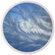 Icescapes 1 Round Beach Towel