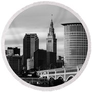 Iconic Cleveland Round Beach Towel