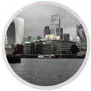 Iconic London Skyline Round Beach Towel