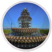 Iconic Pineapple Round Beach Towel