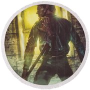 Icons Of Horror Evil Dead Round Beach Towel