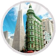 Icons Of San Fran Round Beach Towel