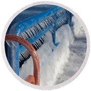 Icy Aftermath Round Beach Towel