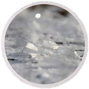Icy Fairies Round Beach Towel