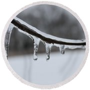 Icy Finger Round Beach Towel