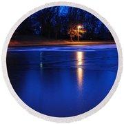 Icy Glow Round Beach Towel