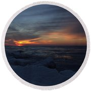 Icy H2o 3 Round Beach Towel