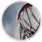 Icy Hoops Round Beach Towel