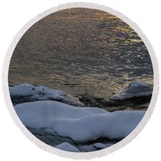Icy Islands - Round Beach Towel