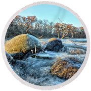 Icy Waters 2 Round Beach Towel