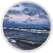 Icy Waters Of Superior Round Beach Towel