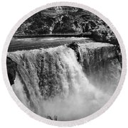 Idaho: Bridal Veil Falls Round Beach Towel