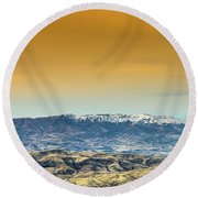 Idaho Landscape No. 2 Round Beach Towel