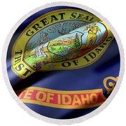 Idaho State Flag Round Beach Towel