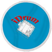 iDrum Round Beach Towel