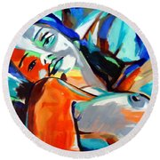 Idyll Round Beach Towel