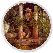 Idyll Pan Amidst Columns 1875 Round Beach Towel