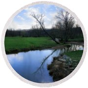 Idyllic Creek Round Beach Towel
