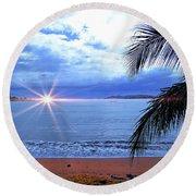 Idyllic Paradise In Bocas Del Toro, Panama II Round Beach Towel