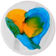 If The World Would Have Heart Round Beach Towel
