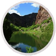 If You Seek Beauty In A River  Round Beach Towel